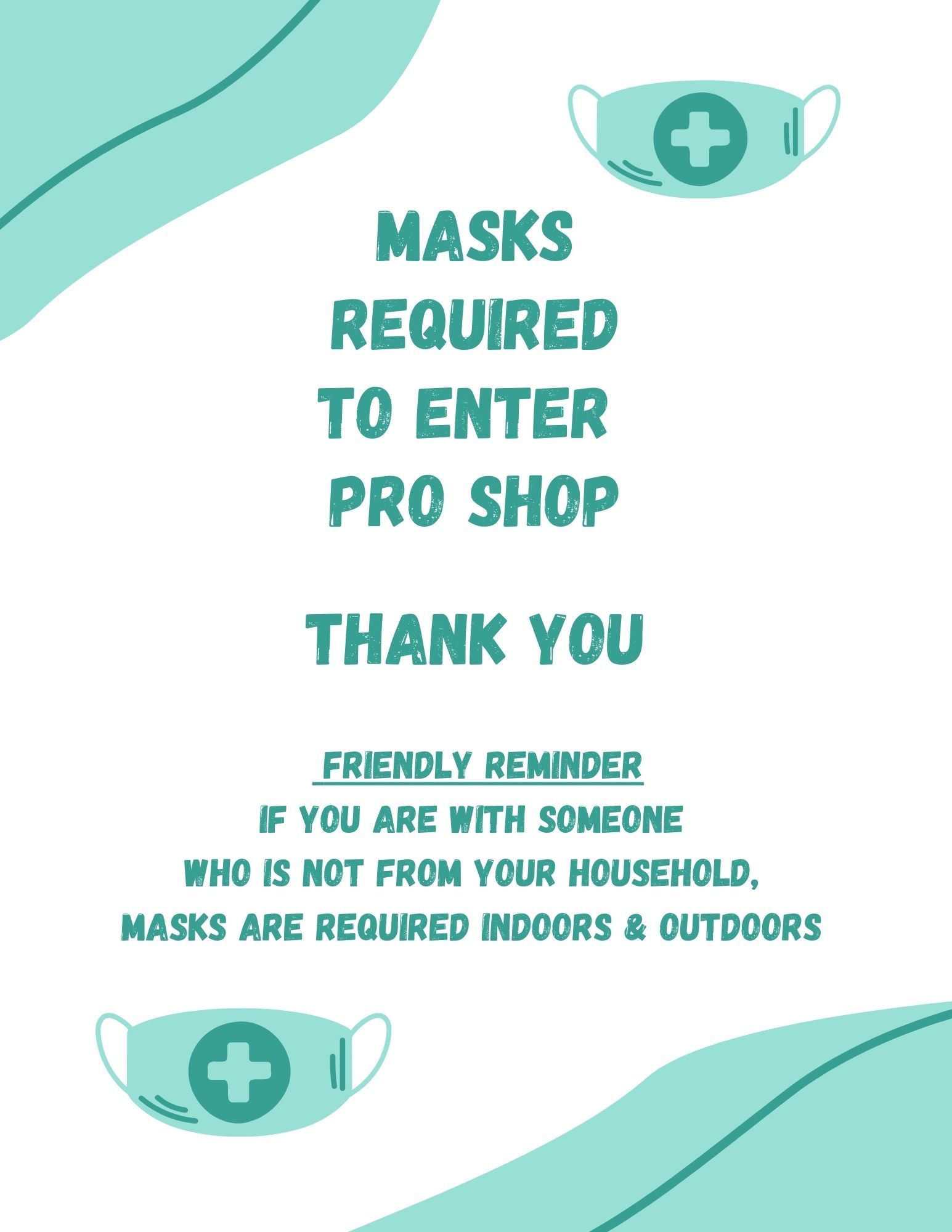 New mask sign